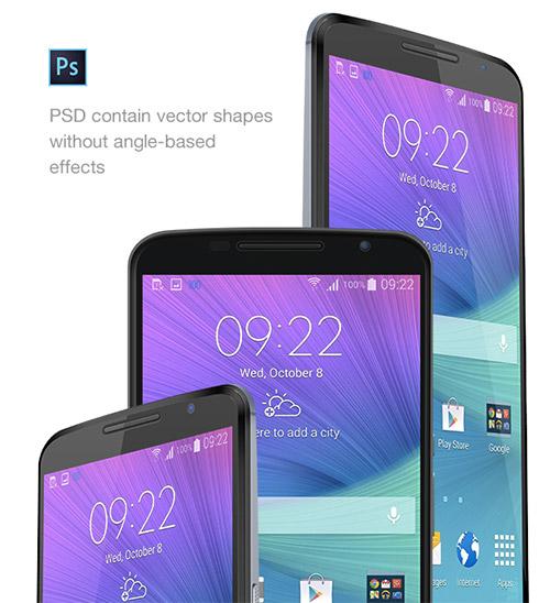 Free Nexus 6 PSD Mockup