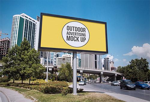 12 Outdoor Advertising Billboard Mockups