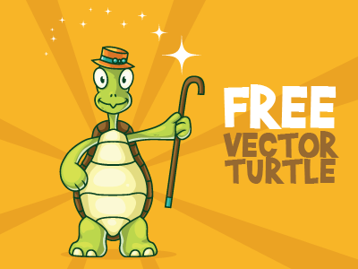 Free Turtle Illustration for Your Mascot