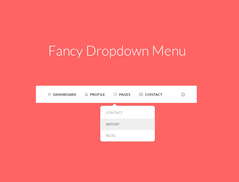 Dropdown Menu PSD Mockup