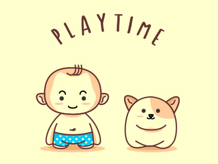 Baby Cartoon Illustration