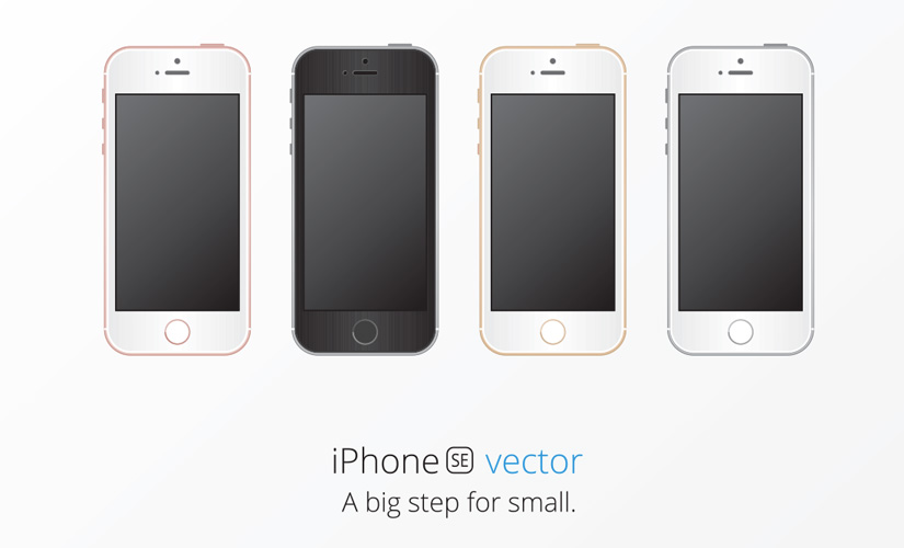 iPhone SE Vector Image