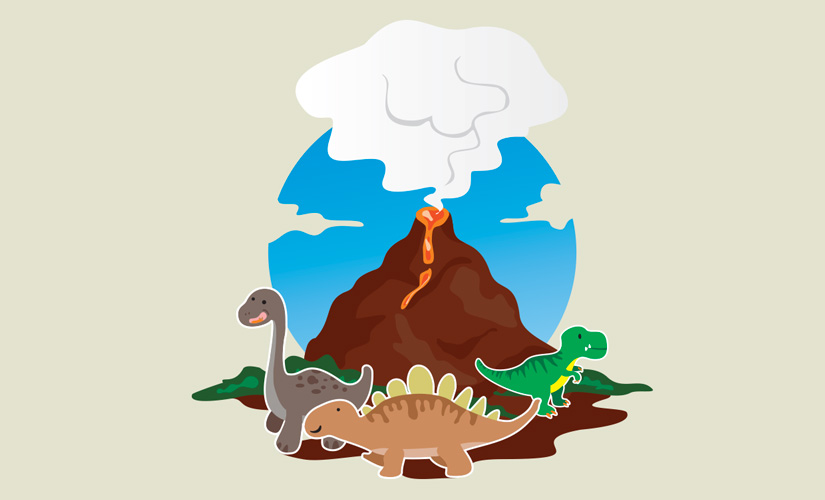 Dinosaurs Vector Illustration