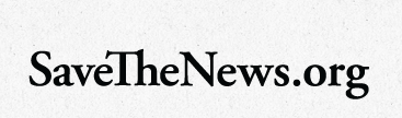 save the news logo