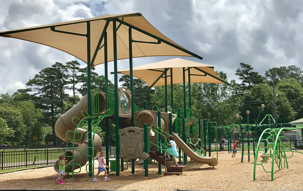 Children playing at a park
