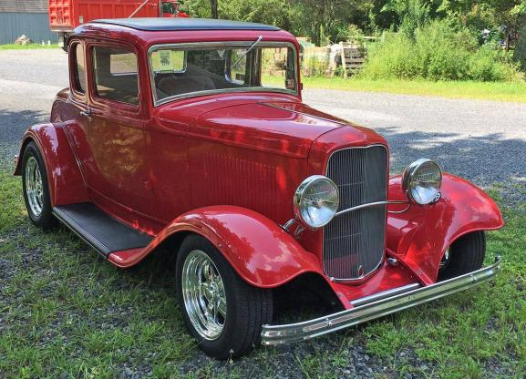 1932 Ford 5 Window 2 Door 5 Window Coupe Deluxe Original Restored V8