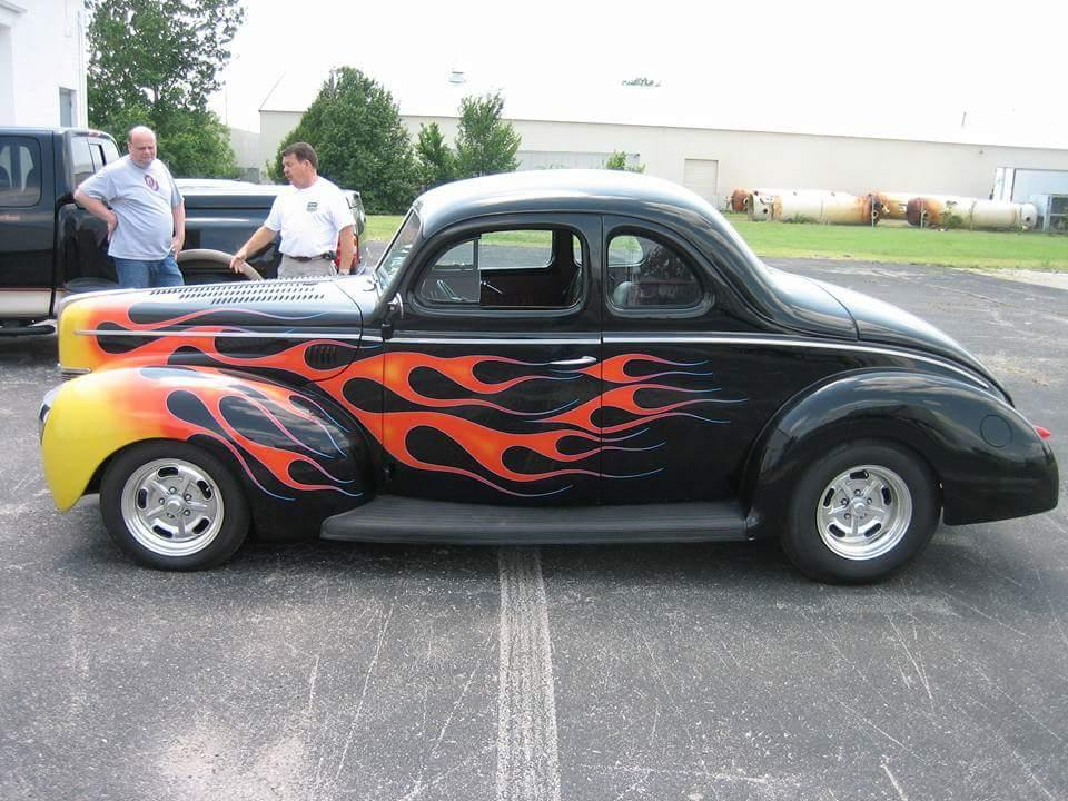 1940 Ford Coupe All Steel Coupe Deluxe V8 For Sale Hotrodhotline