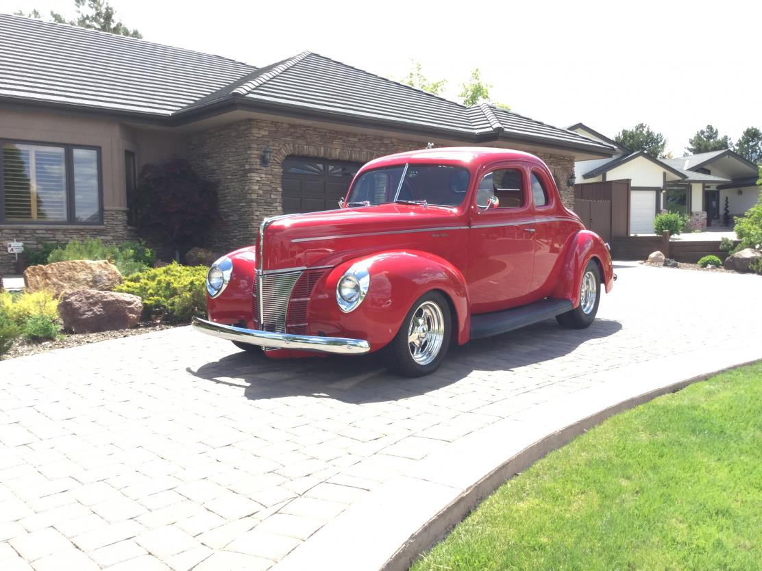 1940 Ford Coupe All-Steel Coupe V8 Engine Swap for sale in RENO, NV -  $125,000