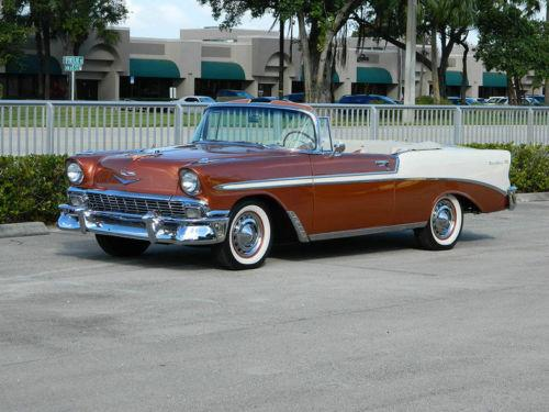 1956 Chevrolet Bel Air 2 Door Convertible All Steel Convertible Original Restored Small Block V8 Stock Two Tone Tri Five For Sale In Elkhart In