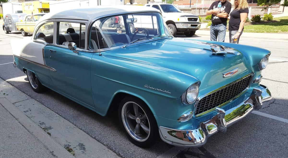 1955 Chevrolet 210 2-door coupe All-Steel Original Restored Small Block V8  Two-tone Tri-Five for sale in ELKHART, IN - $38,500