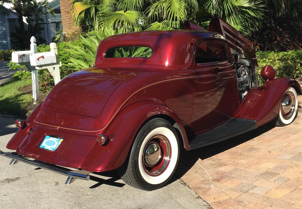 1934 Ford Coupe 2 Door 3 Window Chopped Coupe Deluxe For