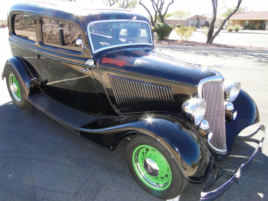 1934 Ford Deluxe 2 Door All Steel Flathead Flathead V8 Restored Sedan Stock V8 8 For