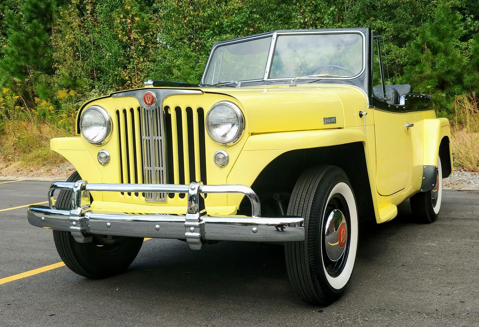 1948 Willys Jeepster All Steel Convertible Original Restored Stock For Sale Hotrodhotline
