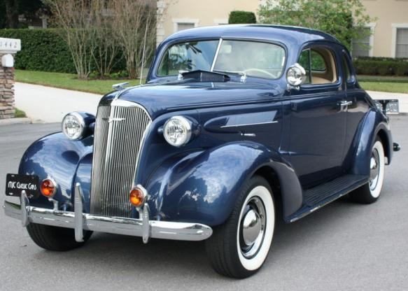 1937 Chevrolet 5 Window All-Steel Coupe Original Restored ...