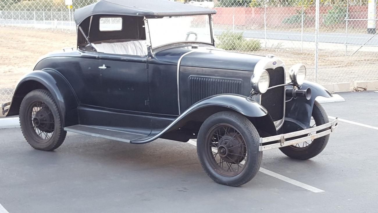 1930 Ford Convertible All Steel Barn Find Convertible Roadster Stock For Sale Hotrodhotline