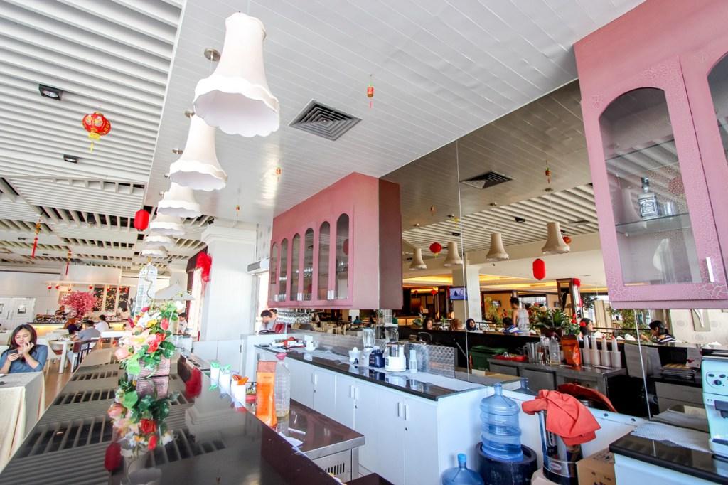 Decoration of open kitchen in modern restaurant image