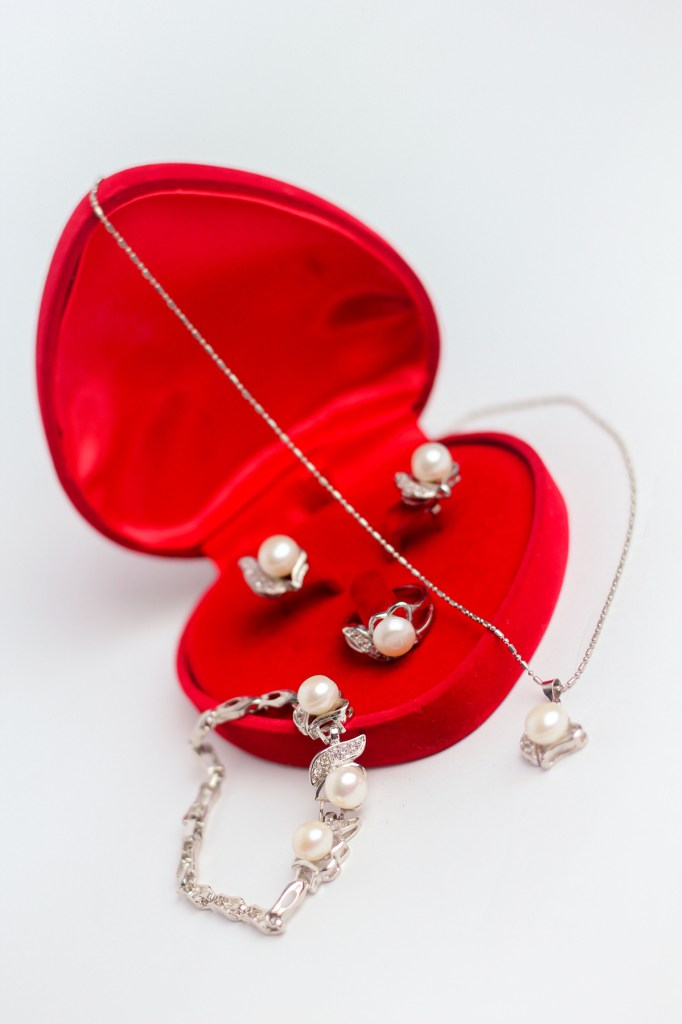 A Set of Jewelry – Ring, Earrings, Bracelet, and Necklace