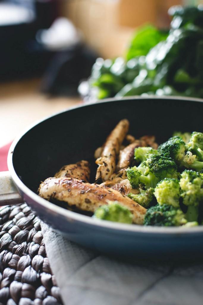 Chicken breast steak with broccoli