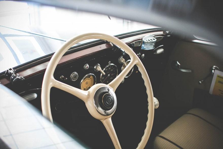 Oldtimer Car Steering Wheel