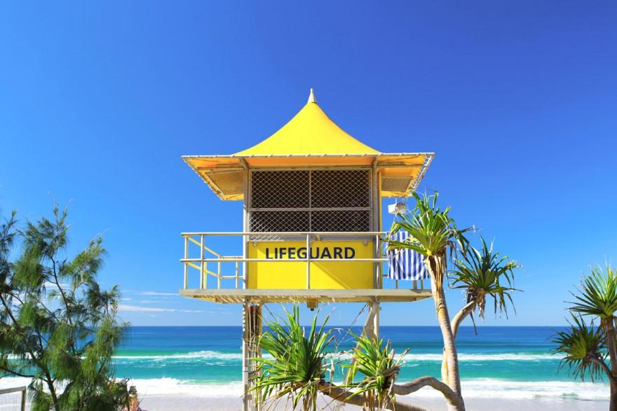 Beach Lifeguard Hut Australia Beach Gold Coast Hut Lifeguard