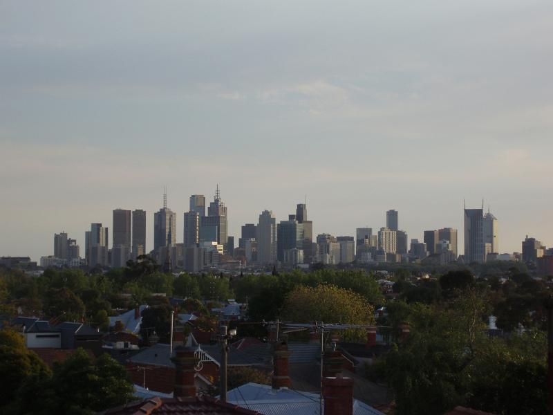 Melbourne Business District Skyline at Dusk