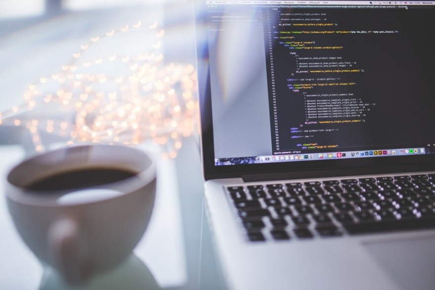 Computer Programming, Notebook, MacBook, Cup, Coffee