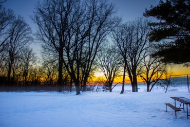 high-cliff-state-parkiwisconsin-dusk-beyond-the-trees