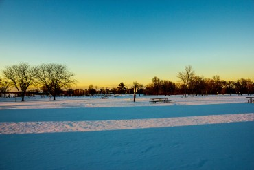 high-cliff-state-parkiwisconsin-high-cliff-state-park-dusk-over-snowy-landscape