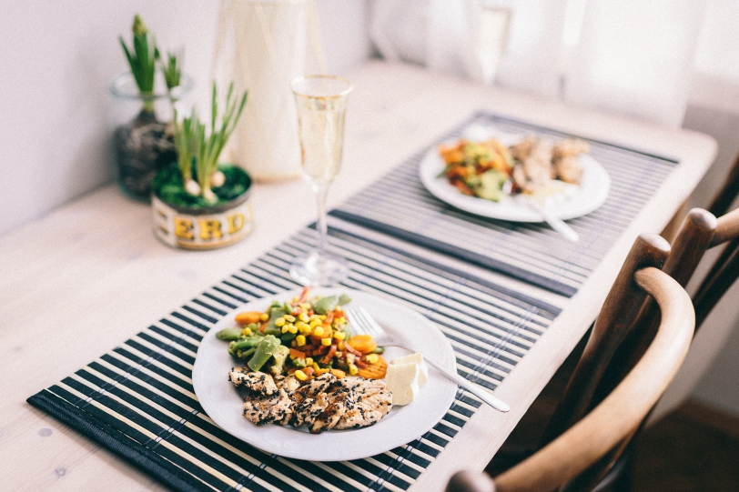 Healthy Meals On Plates For Two