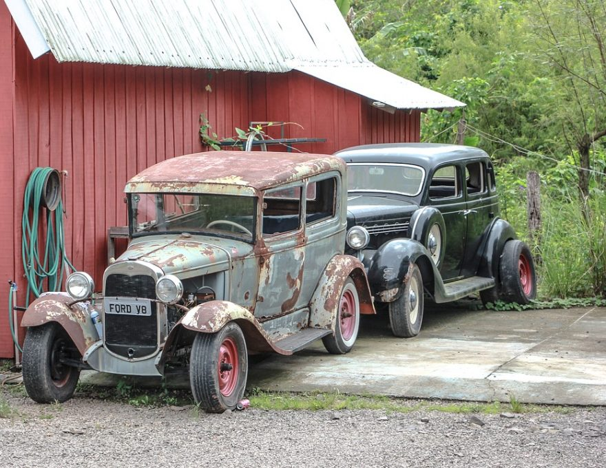 Cars, Green, Old, Red, Rust, Tire   Image Finder