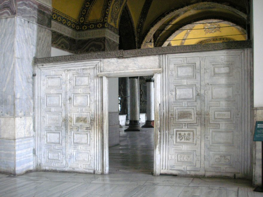 Charmant Marble Door In Hagia Sophia In Istanbul, Turkey