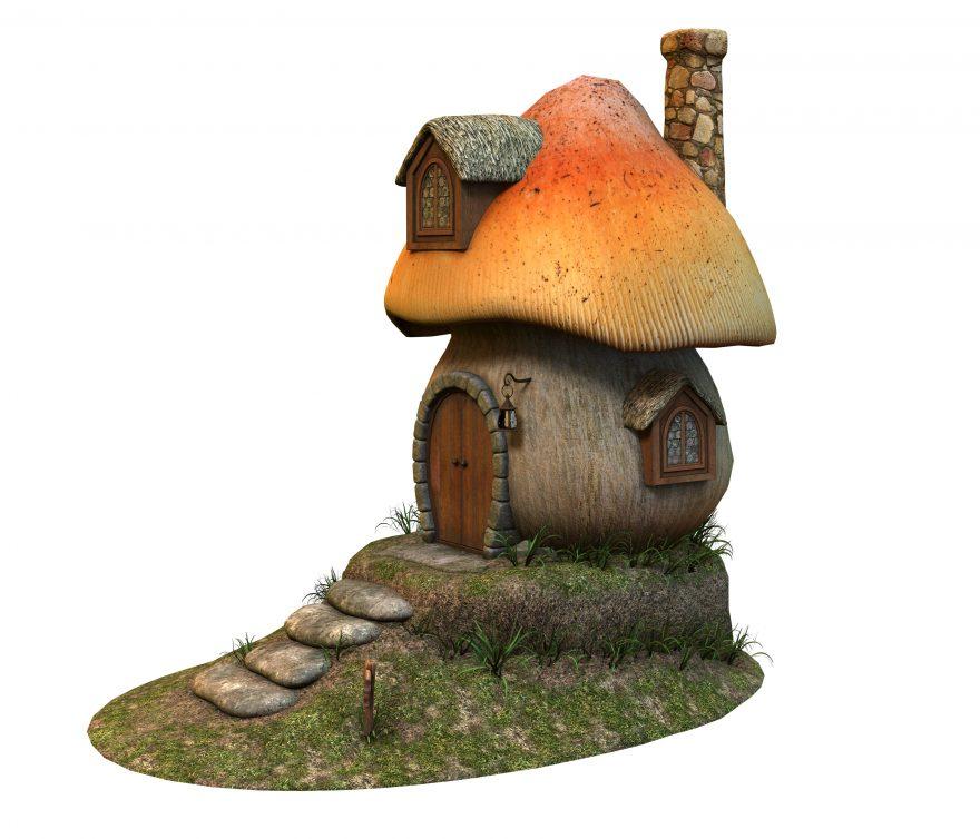 Mushroom House Illustration 3d Drawing Free Photos