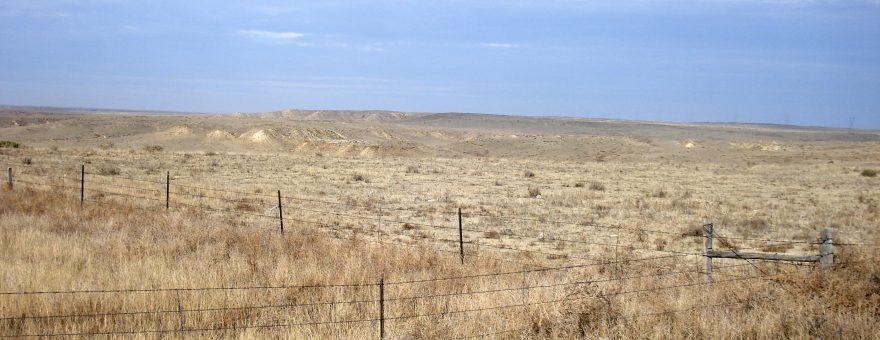 View of the arid high plains in Morgan County in Northeastern Colorado