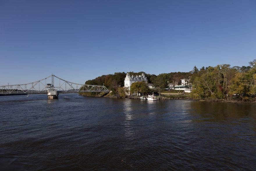 Landscape and bridge along the Connecticut River