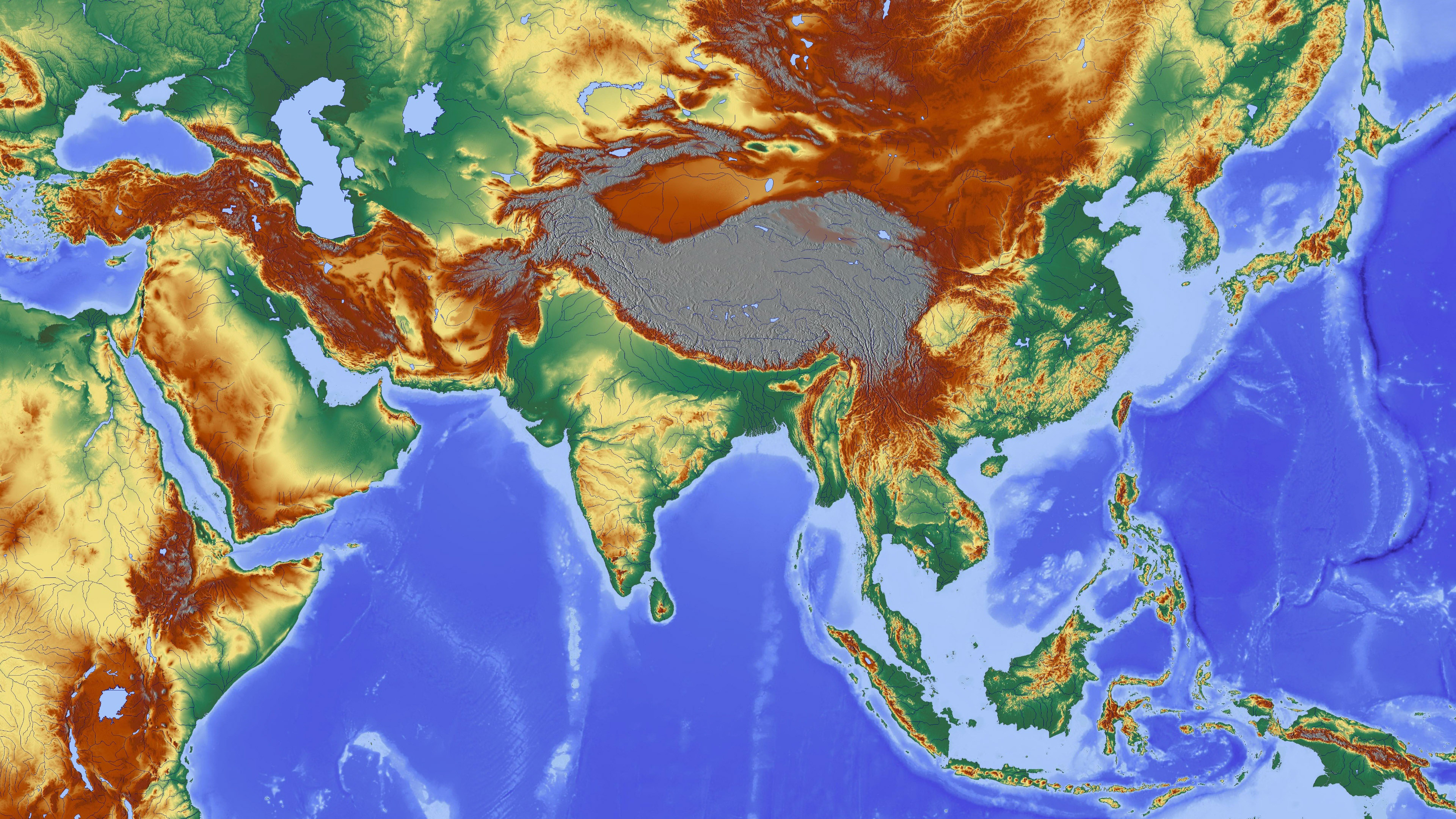 Elevation map of asia elevation map elevayion map free photos available image sizes gumiabroncs Gallery