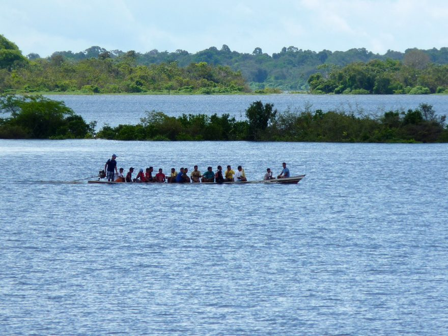 Amazon people on a boat