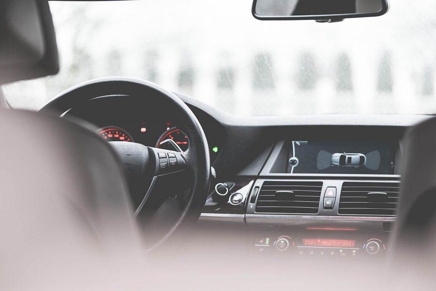 Modern Car Interior Dashboard