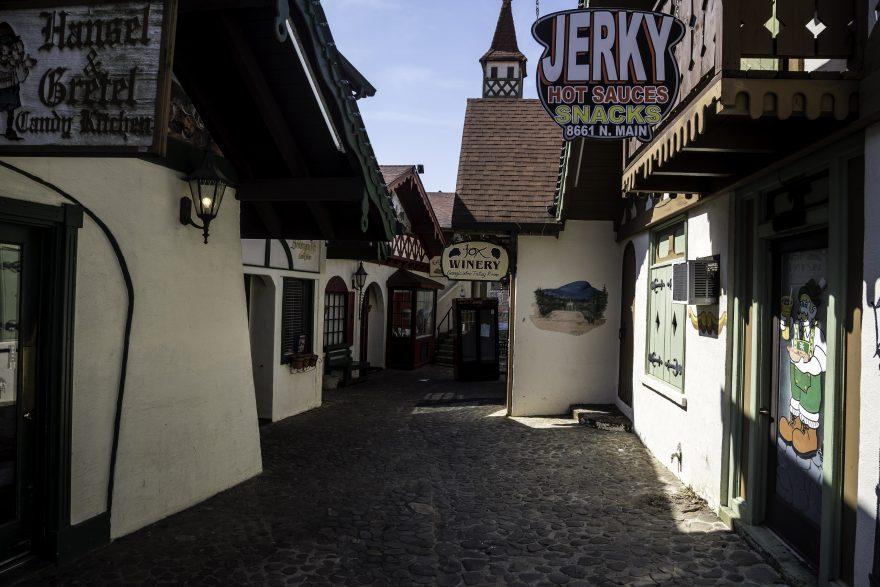 Alleyway between building in Alpine Helen, Georgia