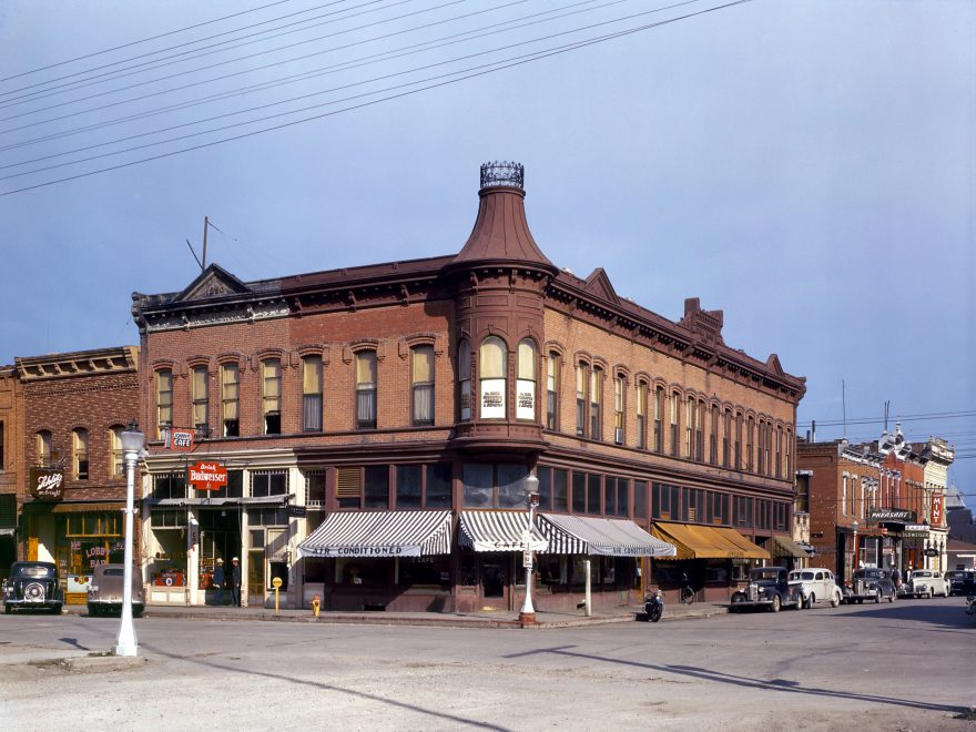Corner Building in the Town of Dillon, Montana