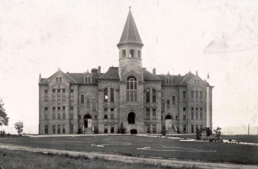 Old Man Building in Laramie, Wyoming