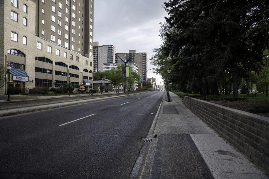 Main Street in Saskatoon with buildings
