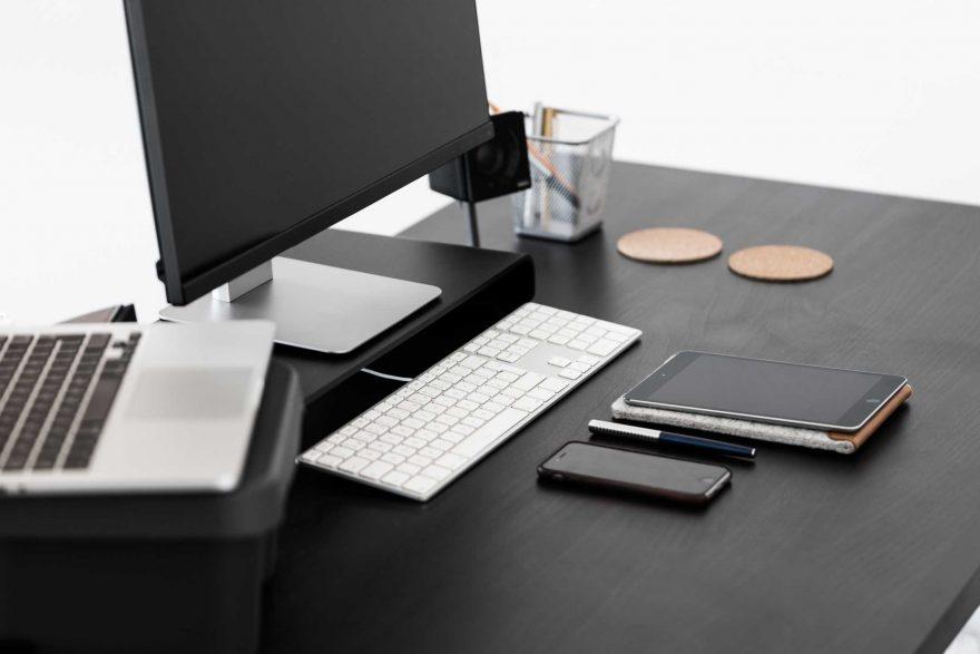 modern home office computer desk clean modern. Black Modern Minimalistic Desk Home Office Computer Clean