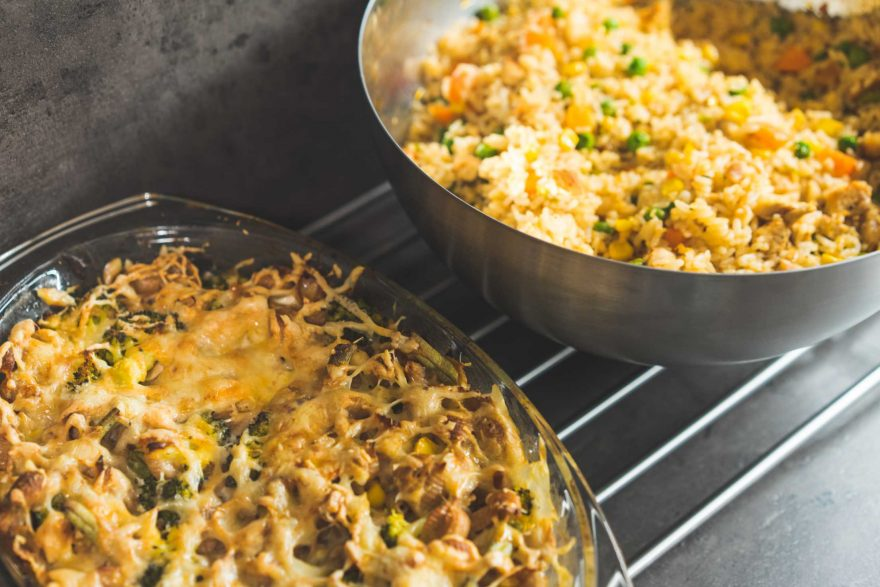 Risotto and Roasted Wholemeal Pasta