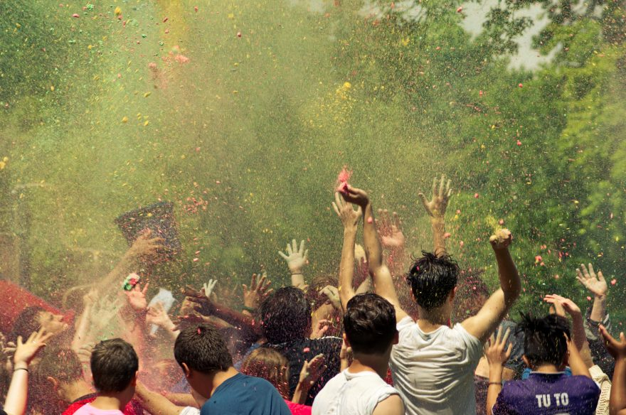 People Celebrating a block party
