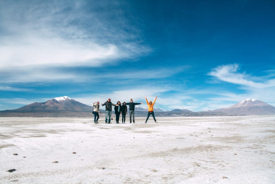 People standing on the Volcanic Plain