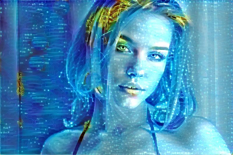 Futuristic Digital Woman