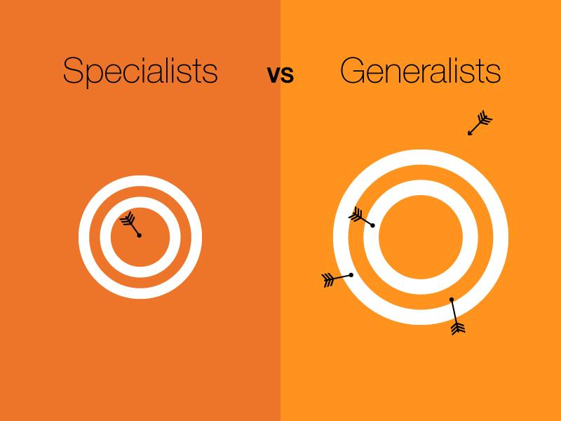 Specialist vs generalist