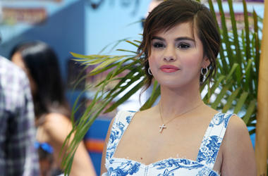 "Selena Gomez attends Columbia Pictures And Sony Pictures Animation's World Premiere Of ""Hotel Transylvania 3: Summer Vacation"" held at Regency Village Theatre on June 30, 2018 in Westwood, California, United States."