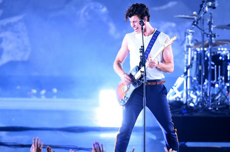 NEW YORK, NY - AUGUST 20: Shawn Mendes performs onstage during the 2018 MTV Video Music Awards at Radio City Music Hall on August 20, 2018 in New York City.