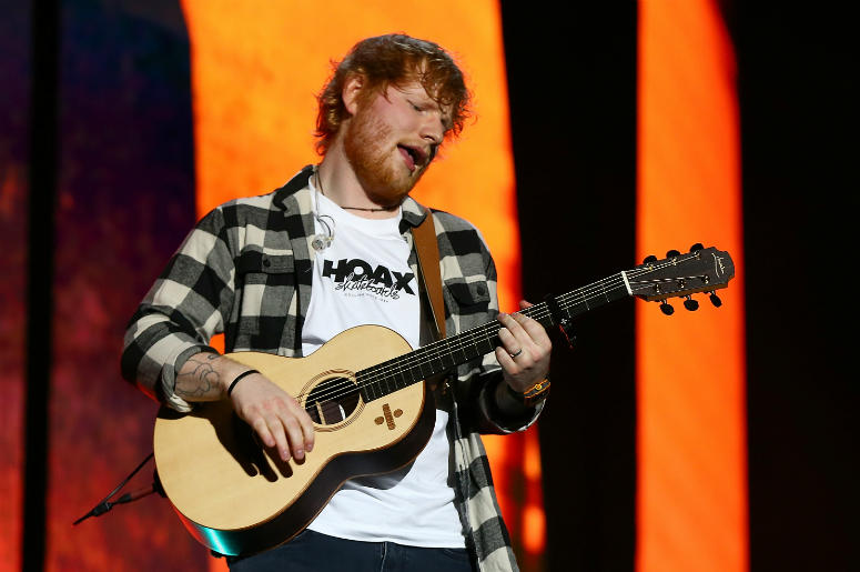 PERTH, AUSTRALIA - MARCH 02: Ed Sheeran performs in concert on the opening night of his Australian tour at Optus Stadium on March 2, 2018 in Perth, Australia.